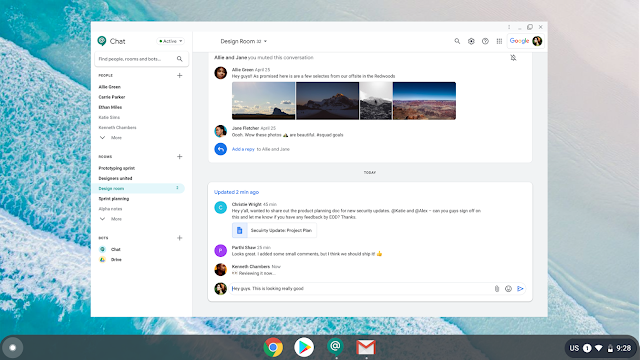 Use the new Google Chat app for fast and reliable communication