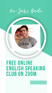 free online English speaking club on Zoom