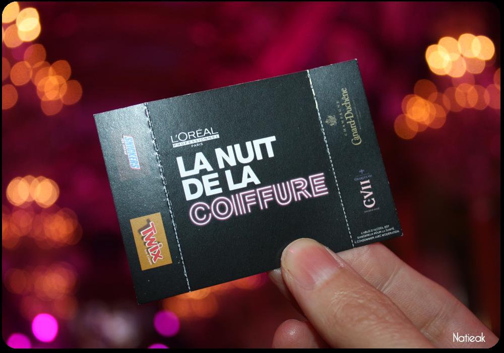 ticket Nuit de la coiffure de l'Oréal Professionnel