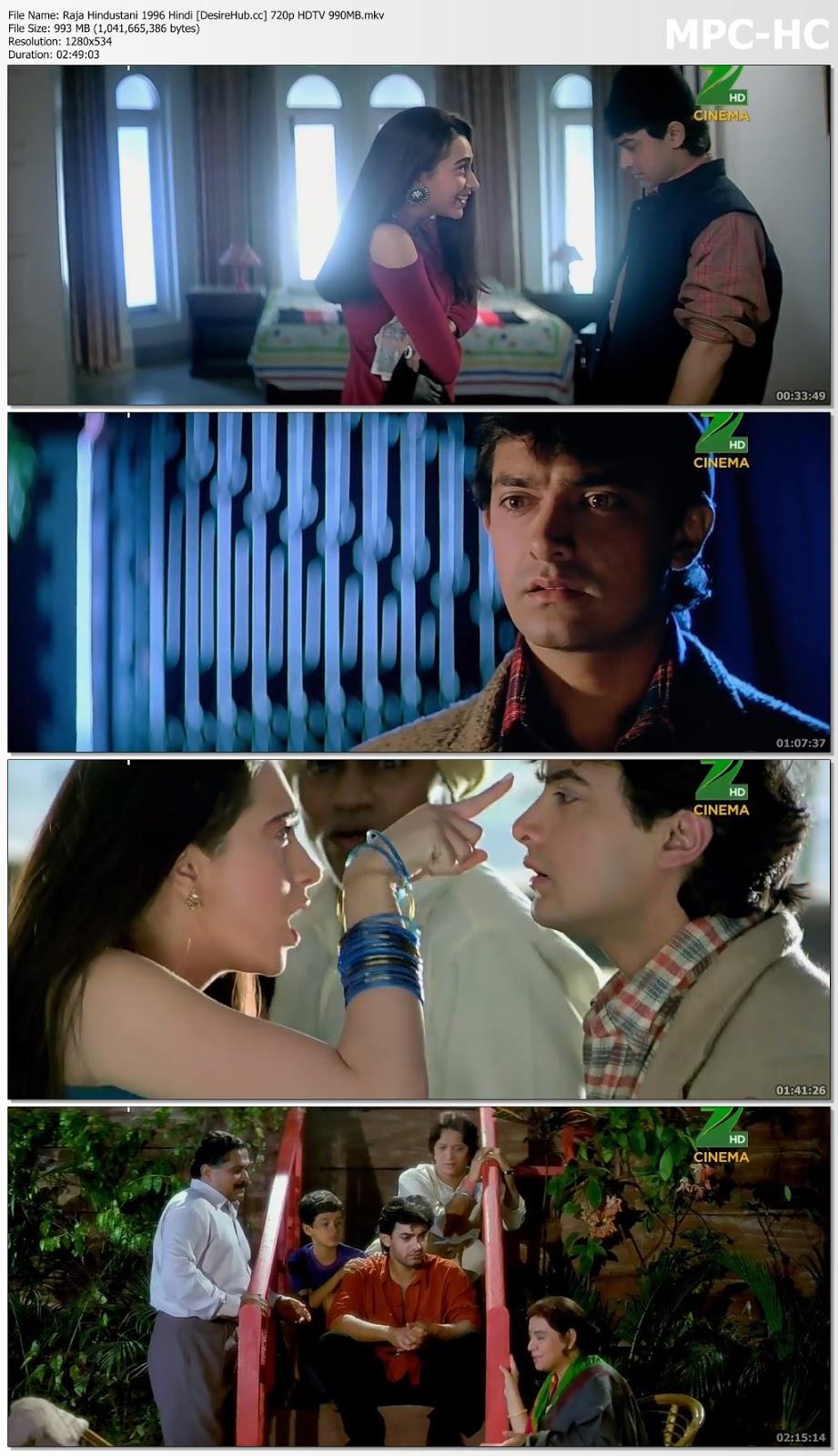 Raja Hindustani 1996 Hindi 720p HDTV 990MB Desirehub