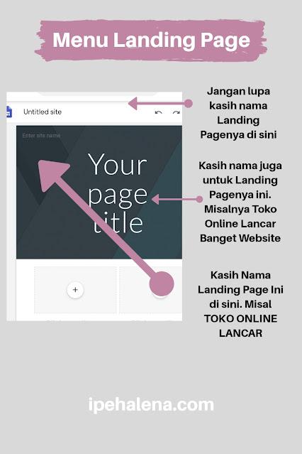 menu landing page