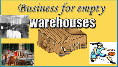 What's a good business idea to start up in empty warehouses?