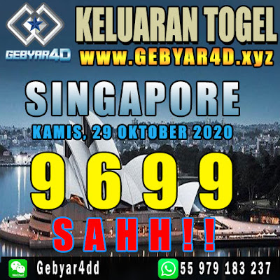 KELUARAN SINGAPORE, RESULT SINGAPORE
