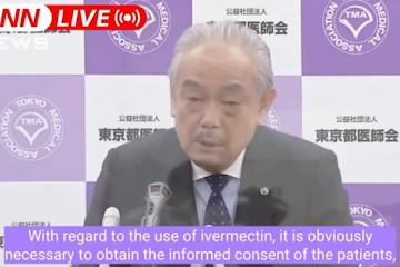 IVERMECTINA: presidente da associação médica japonesa diz publicamente para prescreverem ivermectina contra COVID IMEDIATAMENTE