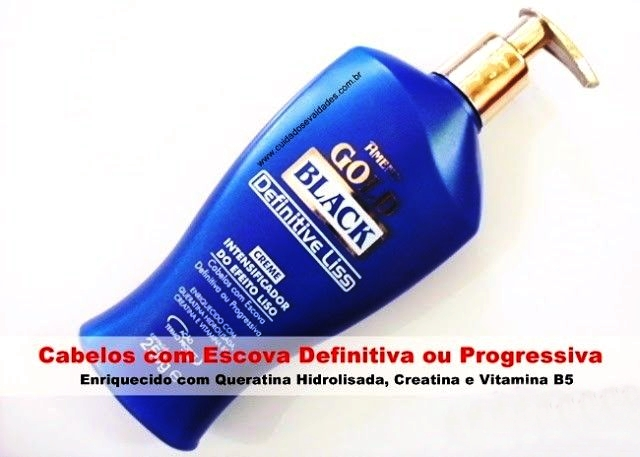 Amend Gold Black Creme Intensificador do Efeito Liso