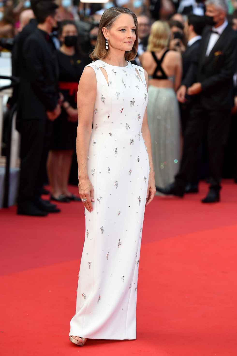 Jodie Foster Jodie Foster, this year's coveted Lifetime Achievement Award recipient, arrived wearing a Givenchy gown covered in subtle embellishments with Chopard jewellery.