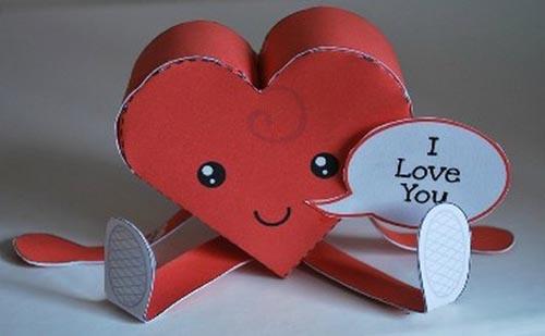 corazón animado de papel