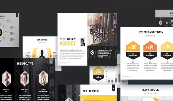 download agency keynote presentation template free - free giveaways, Powerpoint templates
