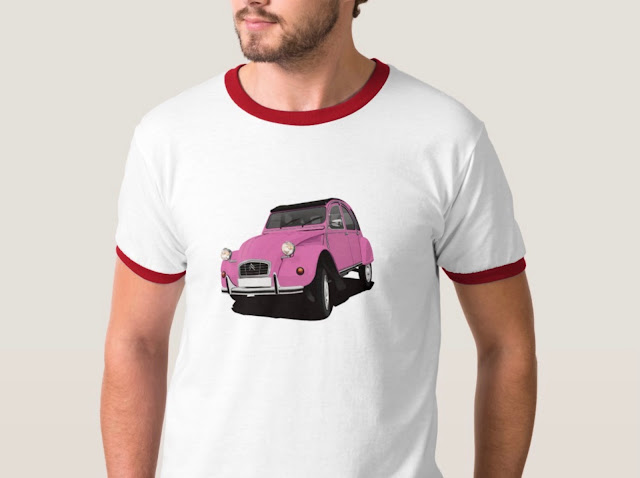 One color classic Citroën 2CV T-shirts
