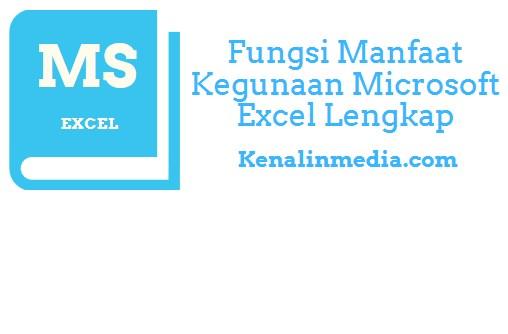 Fungsi Manfaat Kegunaan Microsoft Excel Lengkap