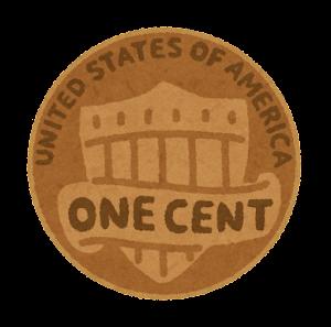 1セント硬貨のイラスト(裏)