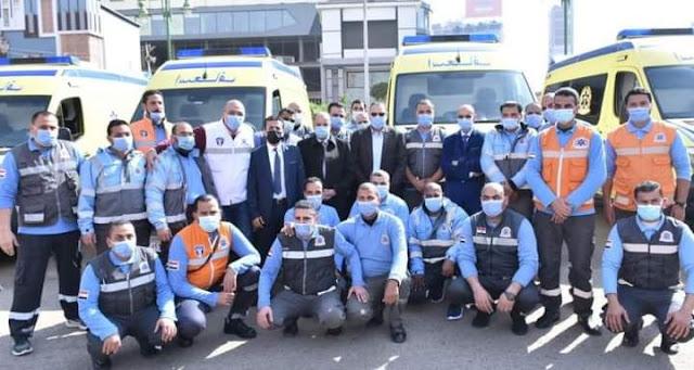 محافظ_الشرقية يشهد إصطفاف سيارات الإسعاف الجديدة لدعم مرفق إسعاف الشرقية