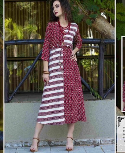 Kayna kairaa Rayon printed party wear kurtis wholesaler