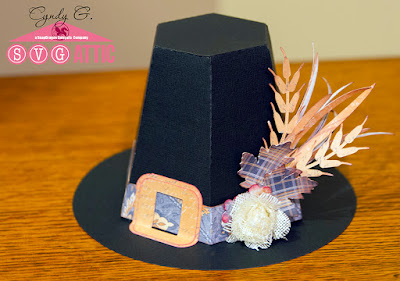 Pilgrim Hat with wheat and flower embellishments