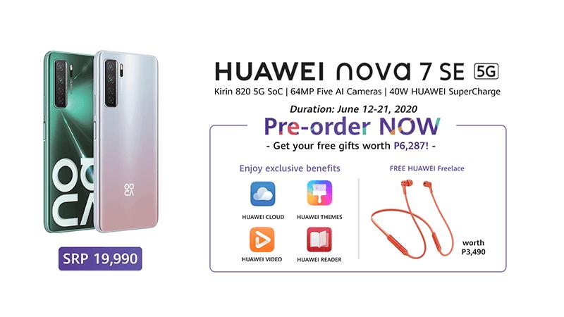 nova 7 SE pre-order details