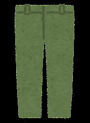 パンツのイラスト(緑)