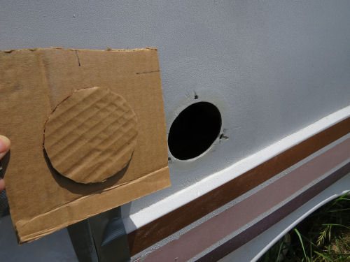 cardboard backing for fiberglass repair