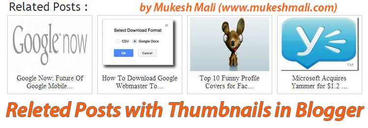Add Related Posts With Thumbnails Blogger