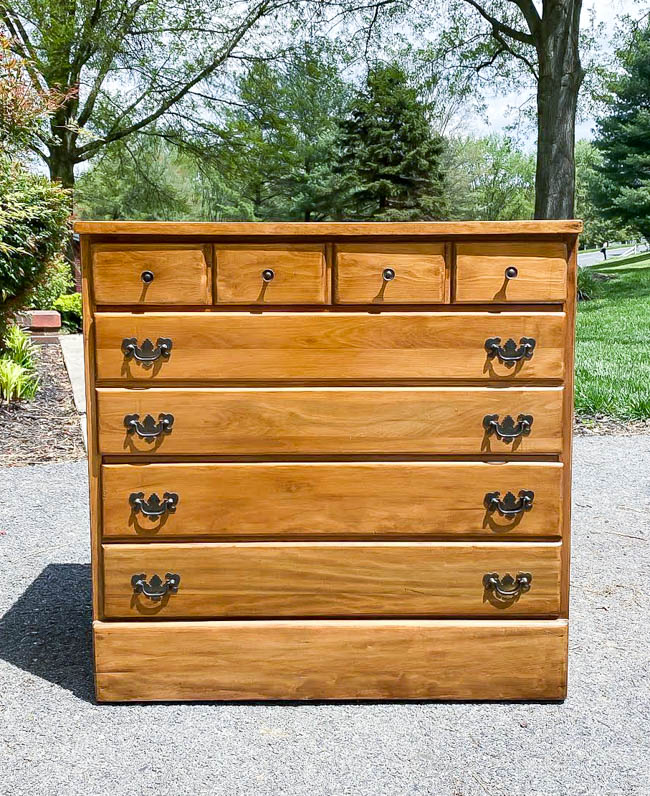 small wood dresser before