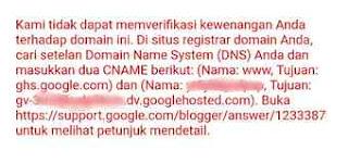 verifikasi kewenangan domain