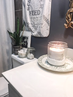 diy bathroom candle holder