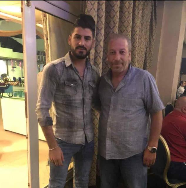 الفنان سمير الخطاطبة والمخرج أحمد الرواشدة في خيمة ليالي زمان في الاردن