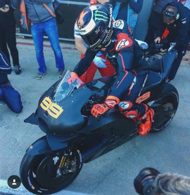 Hasil Ujicoba Jorge Lorenzo di Atas Motor Ducati