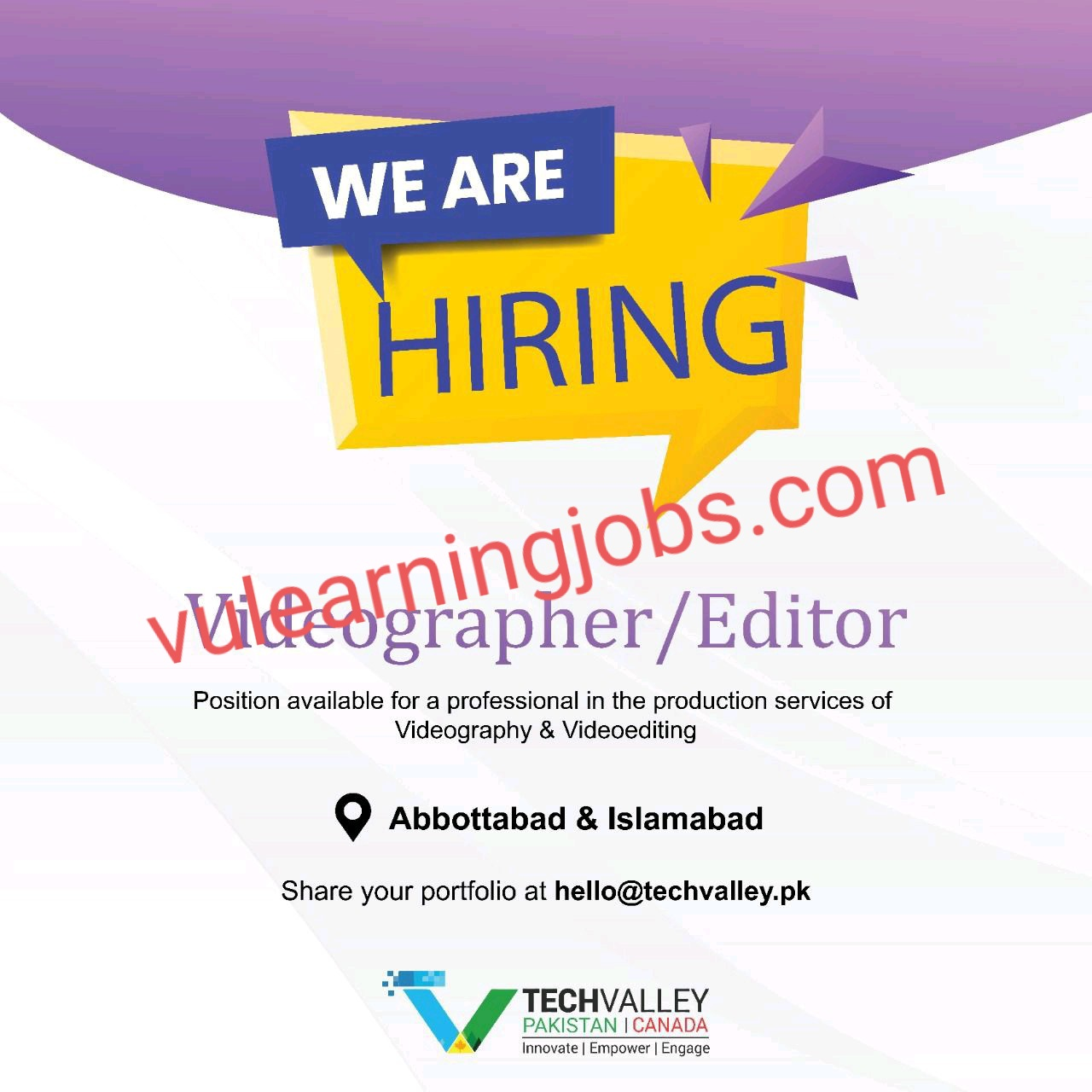 Tech Valley Jobs In Pakistan May 2021 Latest | Apply Now