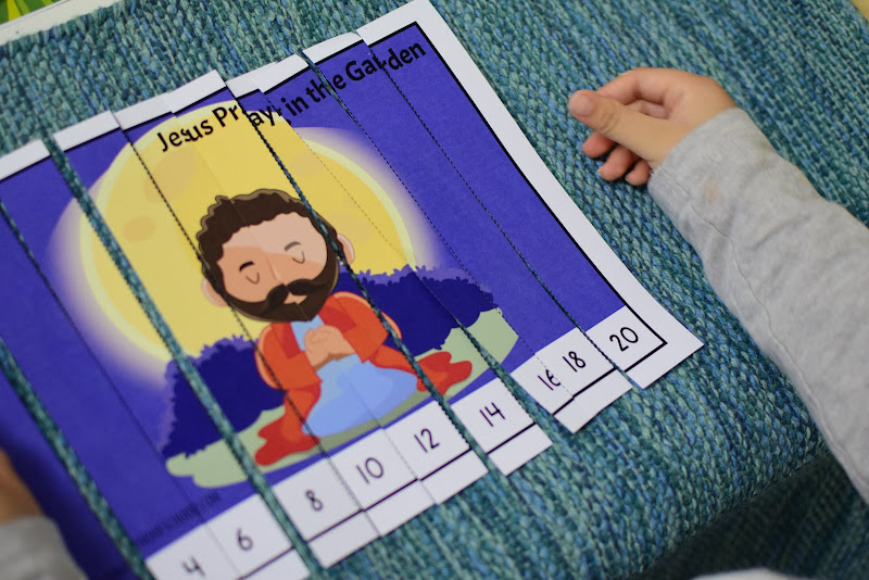 Easter Theme Unit: Number Puzzles (Religious and Non-Religious)