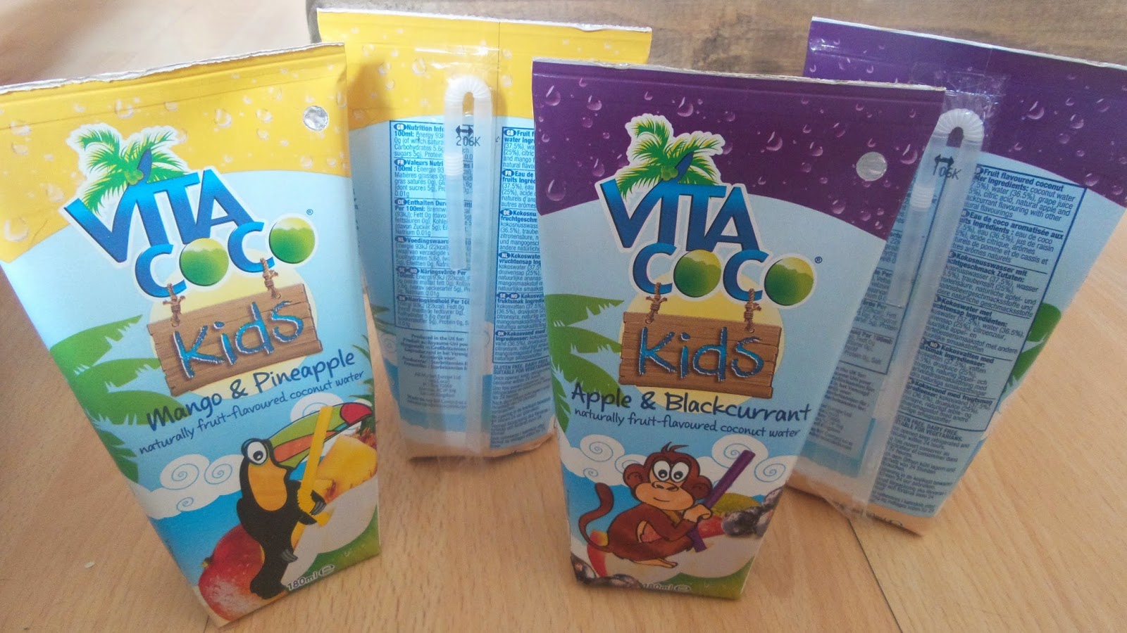 Vita Coco Kids cocounut water flavours