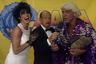 WCW Bash at the Beach 1994 - Mean Gene Okerlund interviews Ric Flair and Sensuous Sherri