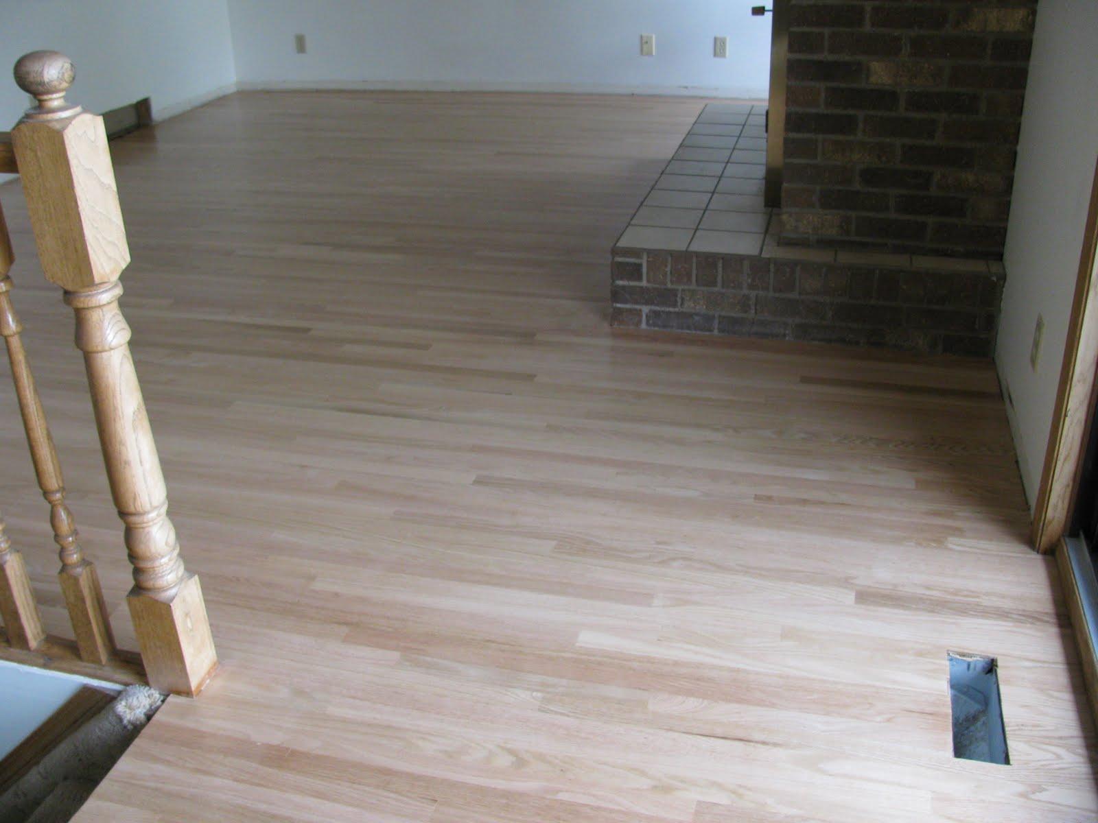 Tammy's Craft Emporium: Red Oak Strip Flooring