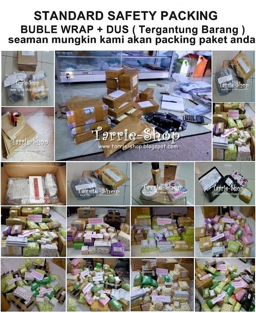 packing barang tarrie kosmetik