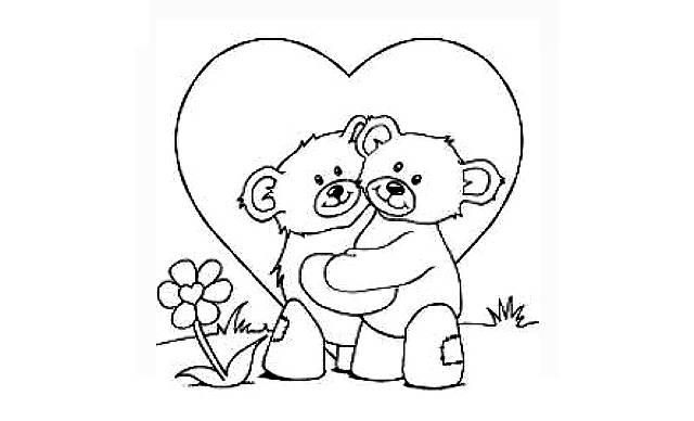 dibujos de amor faciles de ositos