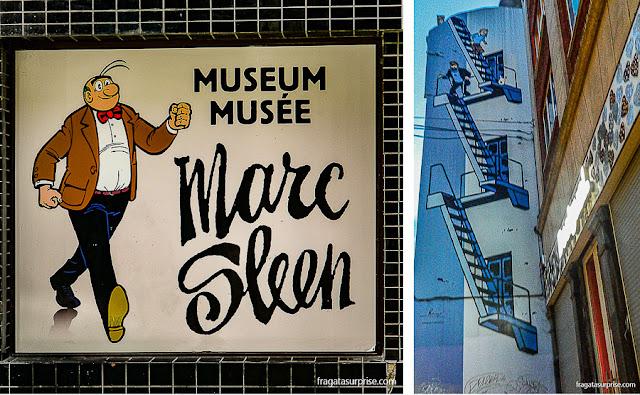 Bruxelas: Museu Marc Sleen e grafite com as aventuras de Tintim