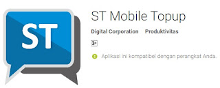 Cara Transaksi Pulsa Via Android ST Mobile Topup