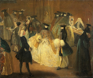 Players at the gambling house had to wear masks, as depicted in Pietro Longhi's 18th century painting
