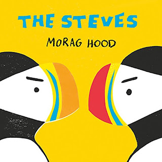When a puffin named Steve meets another puffin who is also named Steve, the competition is on! One of them hast to be the best, most Stevest Steve, right? This competition quickly escalates and turns into name calling and hurt feelings. Can the Steves work out their differences (or similarities)? #thesteves #moraghood #picturebook #childrenslit