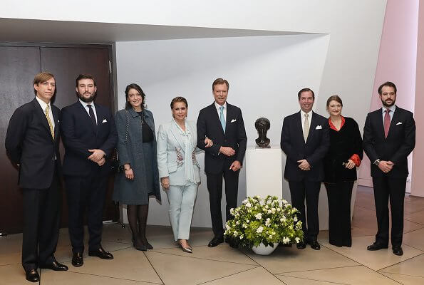 Grand Duchess Maria Teresa wore Alexander McQueen embroidered blazer. Princess Stephanie and Princess Alexandra