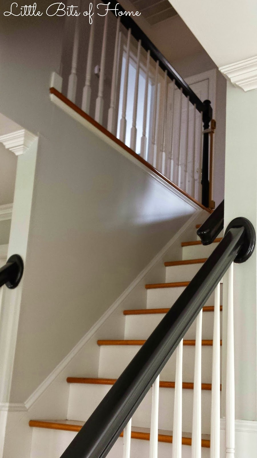Little Bits of Home: How to Paint a Stairwell Without ...