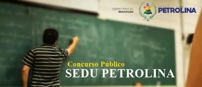Concurso SEDU PETROLINA - Prefeitura de Petrolina - PE