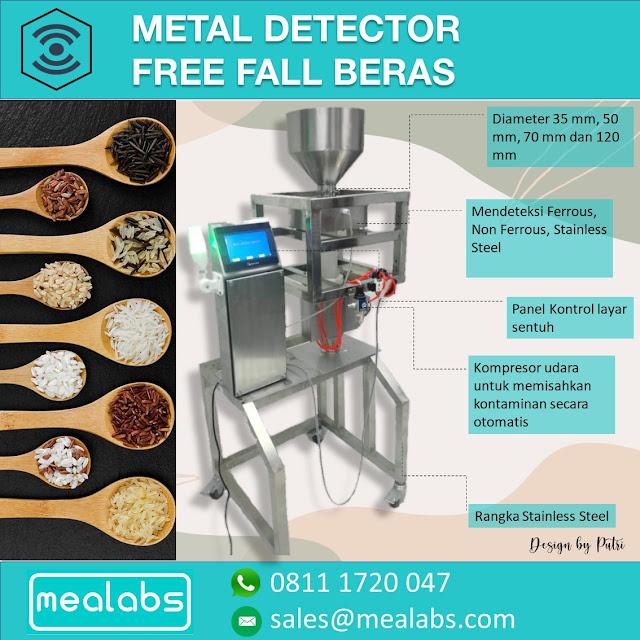 metal detector beras