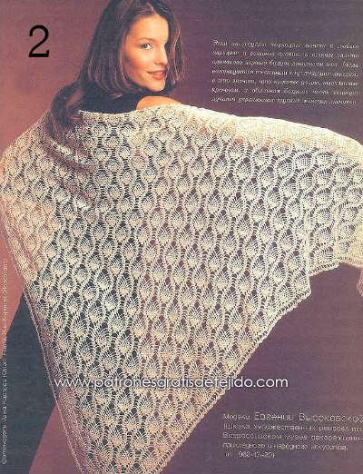 esquemas de crochet para tejer chal
