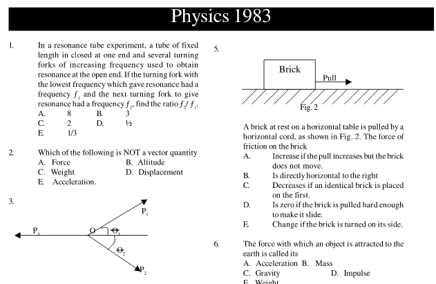Download JAMB Physics Pastquestions: Learningground