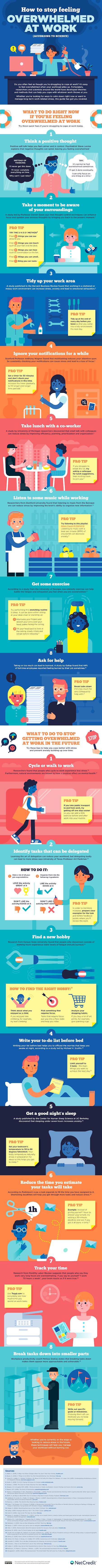How to Stop Feeling Overwhelmed at Work #infographic