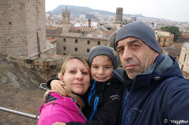 Noi tre di ViaggiamoHg sulla Terrazza della Cattedrale