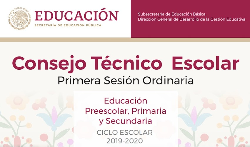 Consejo Técnico Escolar (primera sesión ordinaria 2019-2020)