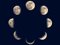 Different phases of moon