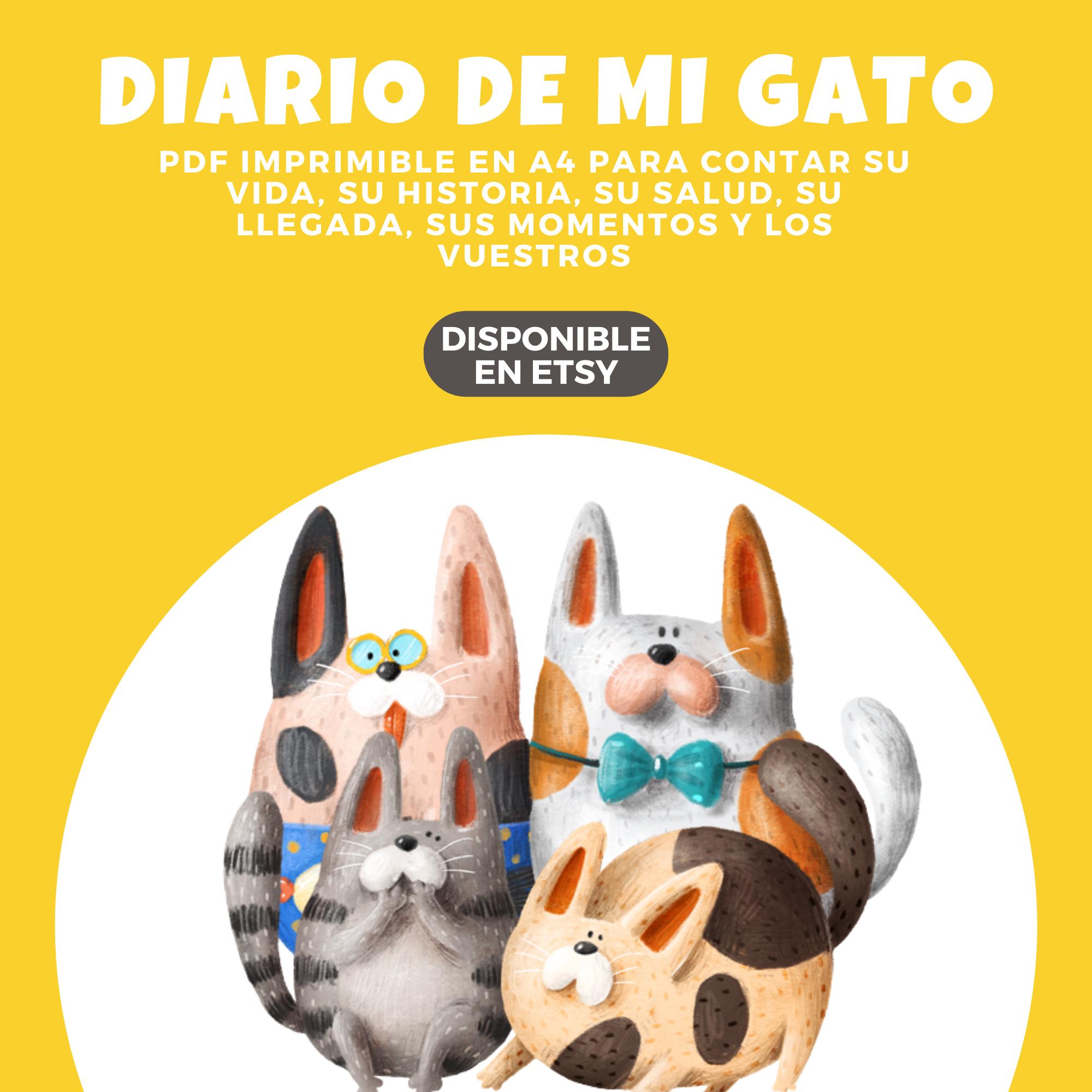 DIARIO, gato, imprimir, mascota, gatos, animales, imprimibles, historia