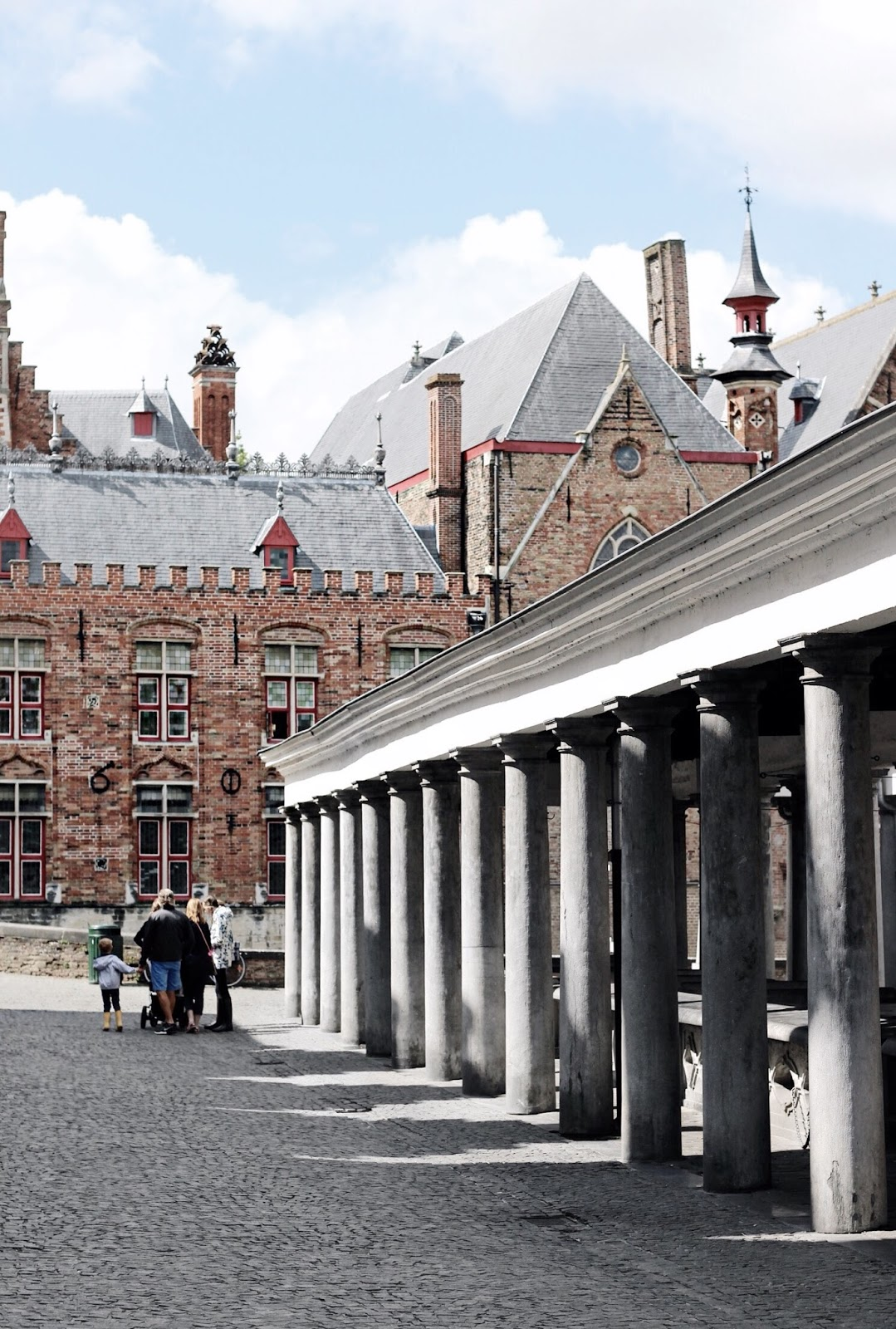 Famous Fish Market in Bruges Belgium